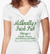McAnally's Irish Pub Women's Fitted V-Neck T-Shirt