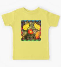 Yellow and Red Poppies  Kids Tee