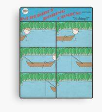 """Incredibly Boring Comics!! #8 - """"Fishing"""" Canvas Print"""