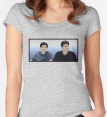 Dan & Phil |Blue gradient  Women's Fitted Scoop T-Shirt