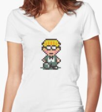 Jeff Women's Fitted V-Neck T-Shirt