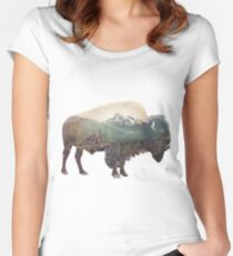 Bison and Independence Mine Women's Fitted Scoop T-Shirt