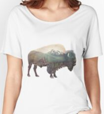 Bison and Independence Mine Women's Relaxed Fit T-Shirt