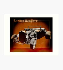 Lowboy Roadster Drawing Ur Wall's Desire Art Print