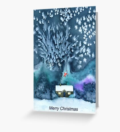 When Santa Came to Call Greeting Card