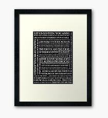 The Love Song of J. Alfred Prufrock 2 Framed Print