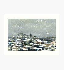 Snowy Edinburgh Art Print