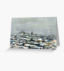 Snowy Edinburgh Greeting Card