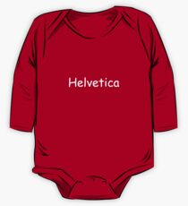 Helvetica One Piece - Long Sleeve