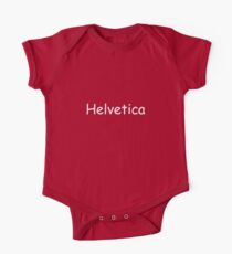 Helvetica One Piece - Short Sleeve