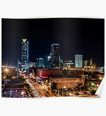 Downtown Oklahoma City at Night Poster