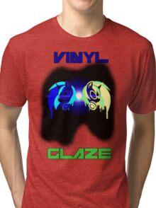 Vinyl Scratch and Glaze Tri-blend T-Shirt