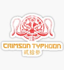 Crimson Typhoon (red and gold) Sticker