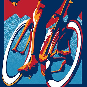 Cartel de ciclismo motivacional de estilo retro: Bike Hard de SFDesignstudio