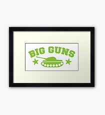 BIG GUNS with military tank weapon Framed Print
