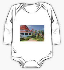 Hotel Del Coronado Front  One Piece - Long Sleeve
