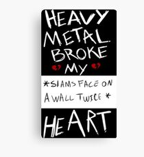 Fall Out Boy Centuries - Heavy Metal Broke My Heart Canvas Print