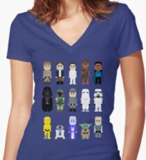 8-Bit ESB Women's Fitted V-Neck T-Shirt