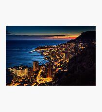 Monaco at sunset Photographic Print