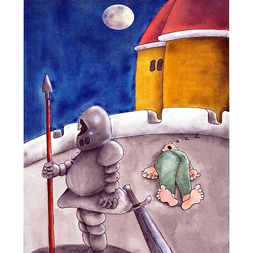 Get well soon cards - medieval palace gag cartoon by shirguppi