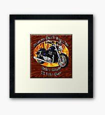 Triumph Thunderbird Heaven Don't Want Me Framed Print