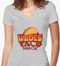 Wade's Taco Shack Women's Fitted V-Neck T-Shirt