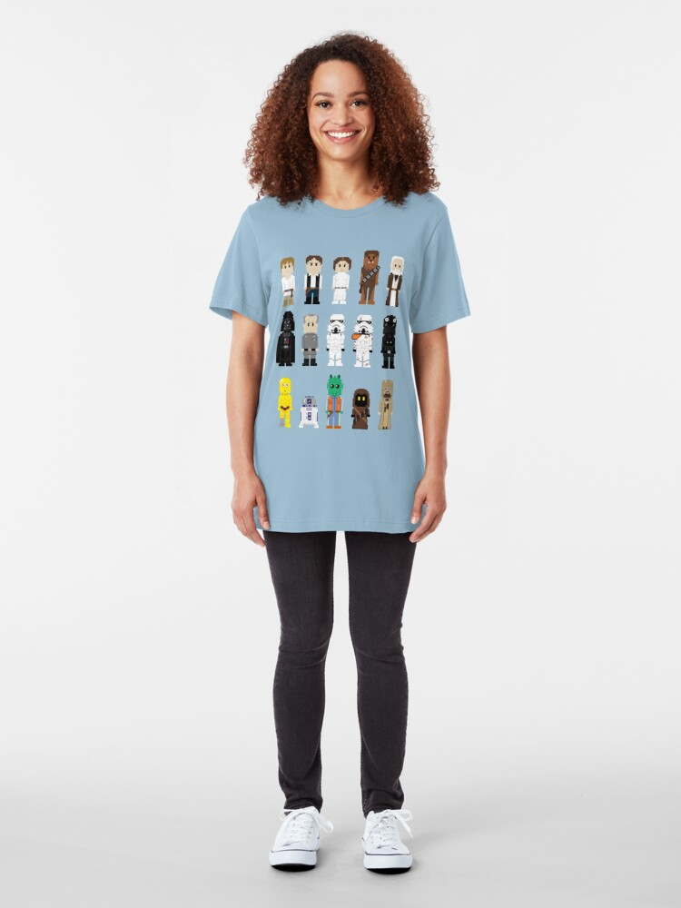 Alternate view of 8-Bit ANH Slim Fit T-Shirt