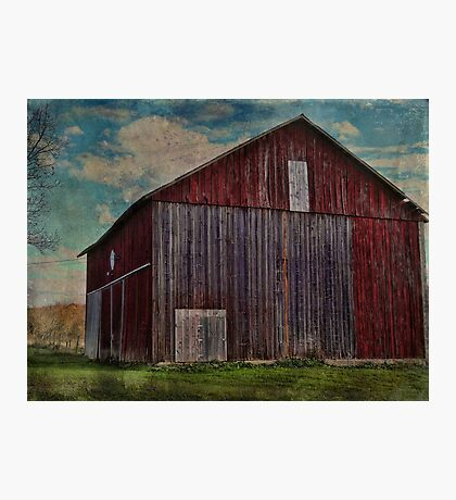 Another Red Barn along the Way Photographic Print