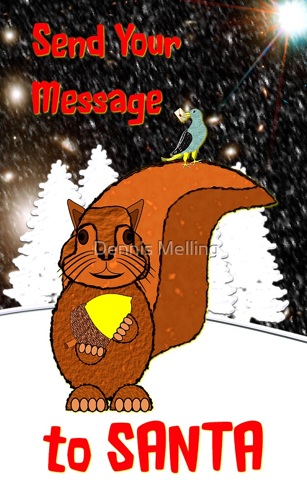 A Message for Santa Christmas card by Dennis Melling