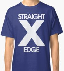 Straightedge (white) Classic T-Shirt