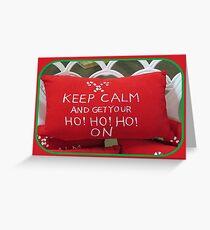 Christmas Pillow Greeting Card