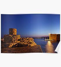 The old harbor of Ierapetra Poster