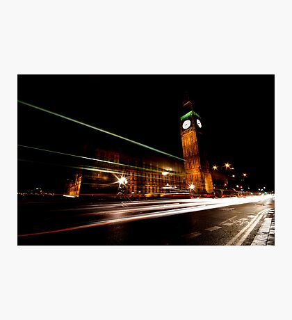 Big Ben & the night bus Photographic Print