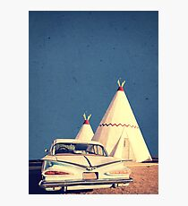 Eat and Sleep in a Wigwam Photographic Print