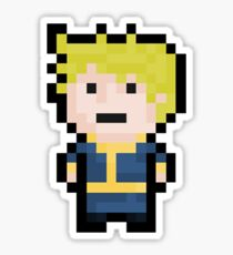 8-Bit Pixel Vault Boy Sticker