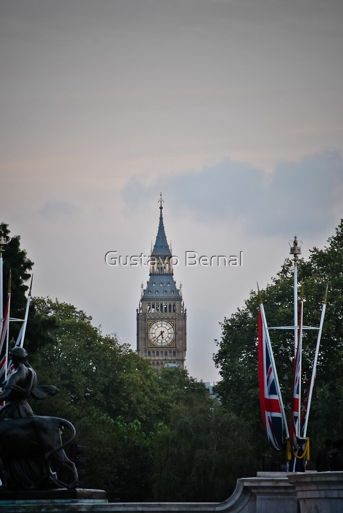 big ben from buckingham palace by gustavo bernal redbubble. Black Bedroom Furniture Sets. Home Design Ideas