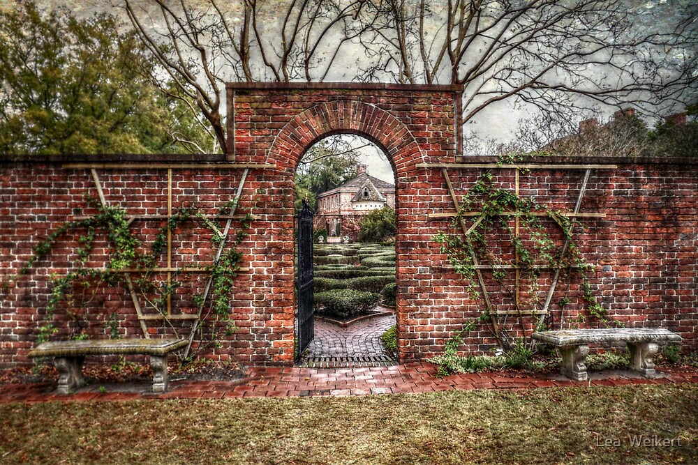 Into the Palace Garden by Lea  Weikert