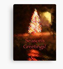 Christmas Impressions - Season's Greetings Canvas Print