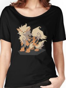 Cutout Arcanine Women's Relaxed Fit T-Shirt