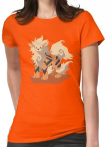 Cutout Arcanine Womens Fitted T-Shirt