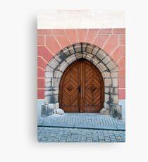 Gothic door. Canvas Print