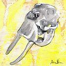 Elephant Skull by AaronBir