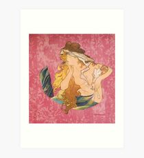 Melusine Paint Art Print
