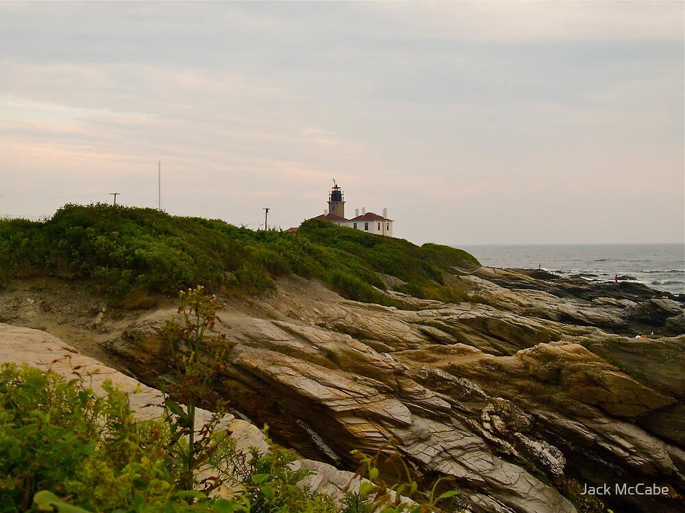 Beavertail Lighthouse and Bluffs, Jamestown Rhode Island by Jack McCabe