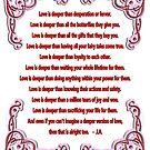 Poem - Love is Deeper Than by Siela