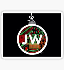 Black Jacob Whitesides Christmas Logo Sticker