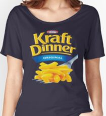 Kraft Dinner Mac 'n' Cheese T-Shirt Women's Relaxed Fit T-Shirt