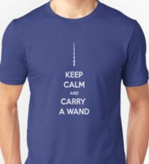 keep calm and carry a wand Unisex T-Shirt