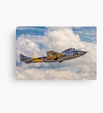 De Havilland Vampire T.11 WZ507 G-VTII Canvas Print