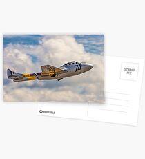 De Havilland Vampire T.11 WZ507 G-VTII Postcards